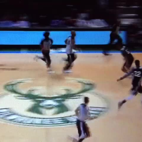 Watching Jabari start the Bucks open scrimmage with a dunk is a beautiful thing. - Vine by BrewHoop - Watching Jabari start the Bucks open scrimmage with a dunk is a beautiful thing.