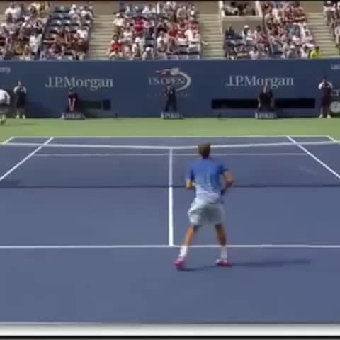 Vine by Best of Tennis - #RafaNadal hitting a crazy passing shot at the #usopen 😮😮 #tennis