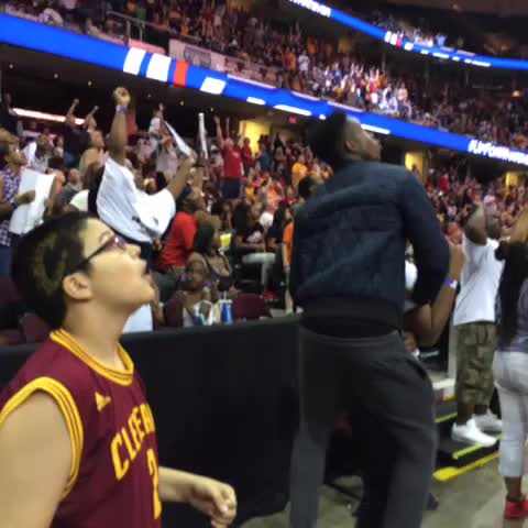 "Watch Cavs's Vine ""ALL IN at @TheQArena! Bring on Game 5 ..."