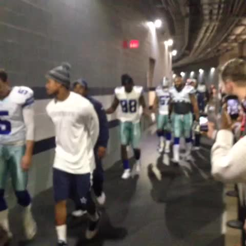 Vine by Pat Doney - Dez Bryant walks into the locker room after Dallas clinches the NFC East. @bluestarblog