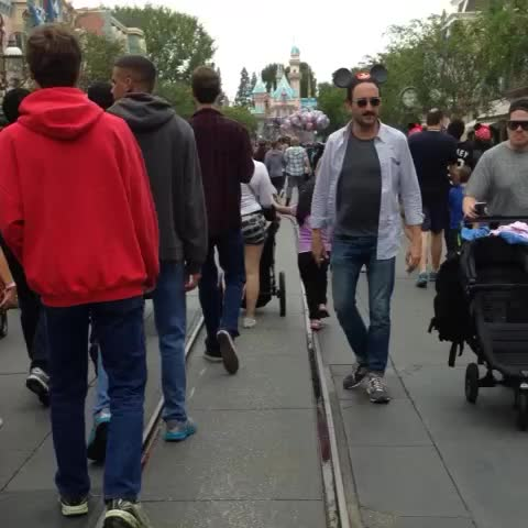 Apparently there are train tracks at #disneyland - Vine by Clayton Farris - Apparently there are train tracks at #disneyland