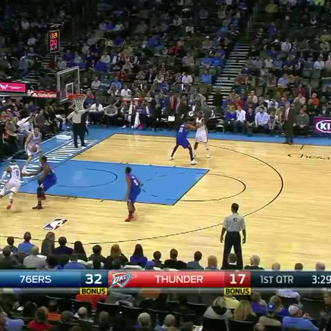 Vine by NBA - Russell Westbrook is a one-man fastbreak! OKC THUNDER