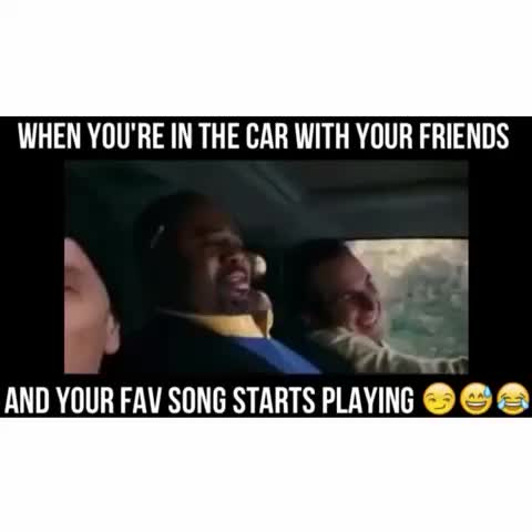 When youre in the car with your friends and your fav song starts playing ???????????? - Vine by Luke Sharp - When youre in the car with your friends and your fav song starts playing 😏😅😂
