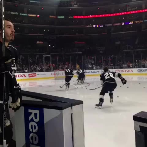 Vine by LA Kings - Lets skate. #BellLetsTalk