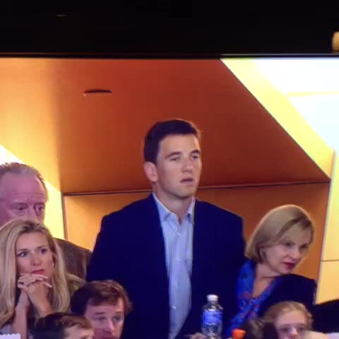 Vine by Alex Kennedy - Eli Manning is SO EXCITED for his brother, Peyton.