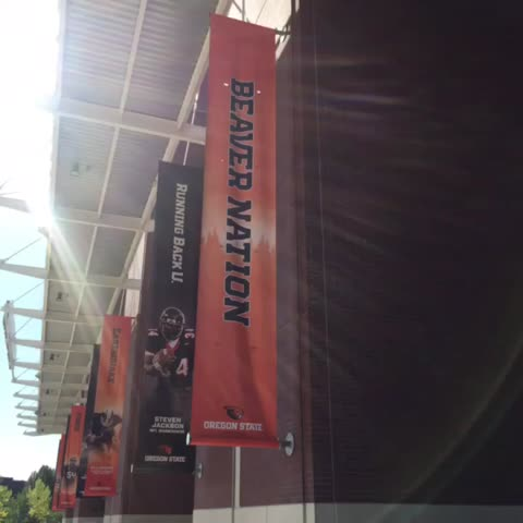 Vine by Beaver Athletics - New banners are up at @reser_stadium. They look great! #gobeavs