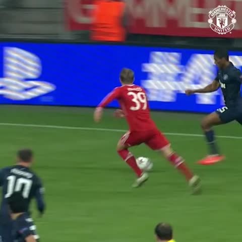 Vine by Manchester United - #mufc Legends play Bayern Munich All Stars in June at OT. Will we see a goal as good as this one, scored by Patrice Evra?