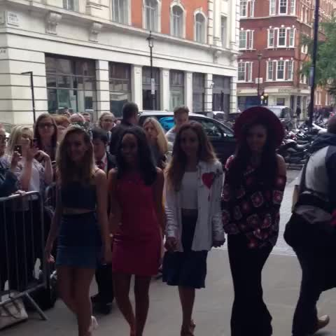 Vine by BBC Whos in Today - .Little Mix arrive for their BBC Radio 1 #livelounge feat a Jason Derulo cover & choir! 🎤Tune in now to hear interview and songs🎵 - enjoy!