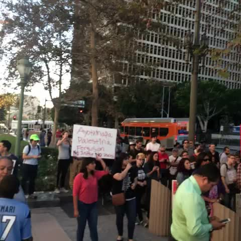 Easily 200 now in front of Spring St courthouse in #dtla. #ferguson #losangeles - Trevell Andersons post on Vine