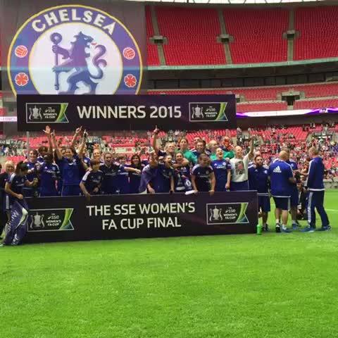 Vine by Chelsea FC - Chelsea Ladies FC celebrating winning the #WomensFACupFinal!