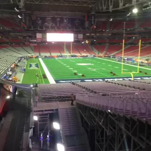 Vine by SNF on NBC - University of Phoenix Stadium will be rockin tomorrow! #SB49