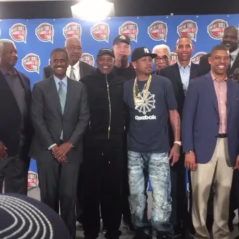Vine by NBA - AI, KJ, Shaq and Yao among those named as 2016 Basketball Hall of Fame finalists! #NBAAllStarTO
