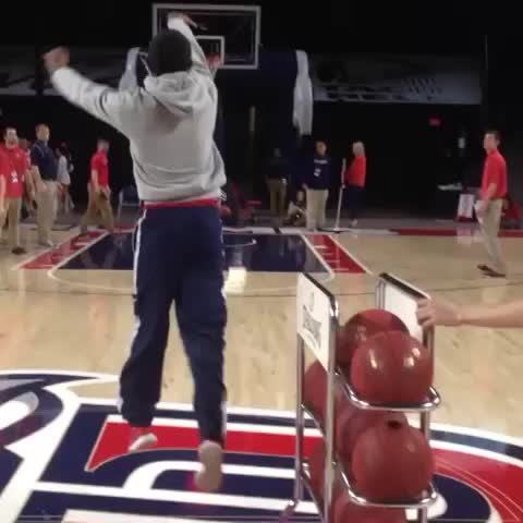 Vine by Liberty Flames - Liberty basketball fan makes halfcourt shot to win Zaxbys for a year!