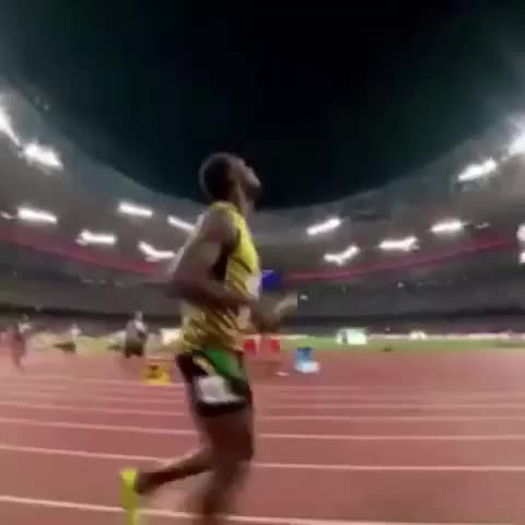 ⚡️#UsainBolt celebrates with the #LeBronStomp‼️ after winning the Gold Medal for Jamaica ???? - Vine by LeBron James ✅ - ⚡️#UsainBolt celebrates with the #LeBronStomp‼️ after winning the Gold Medal for Jamaica 🏆