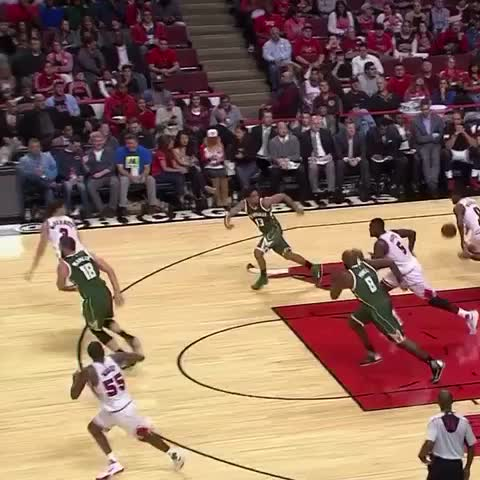 #McBuckets beats the buzzer with a smooth triple (CSN) - Vine by Chicago Bulls - #McBuckets beats the buzzer with a smooth triple (CSN)