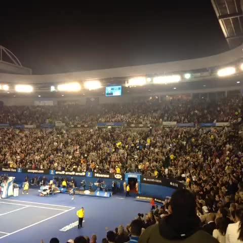 Vine by Australian Open - Rod Laver Arena shows its appreciation for @NickKyrgios... #ausopen
