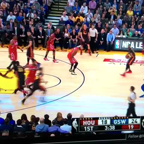 Vine by Warriors Nation - Curry with his 3rd triple! #CurryCounter #WarriorsNation #Warriors #Rockets #NBA