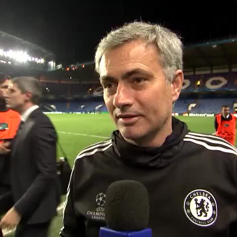 Vine by Chelsea FC - When Zlatan Ibrahimovic surprised Jose Mourinho after the Blues beat PSG on 8 April 2014... #CFC