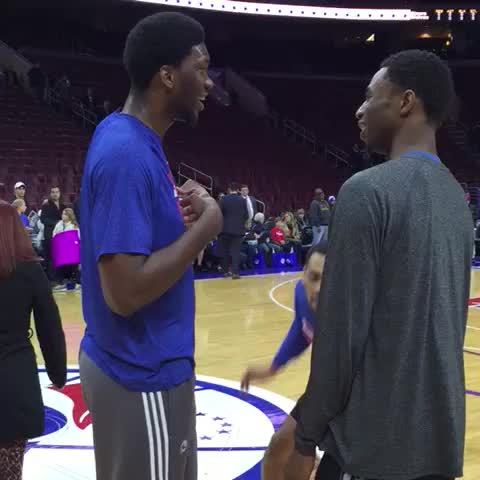 "Watch Sixers's Vine ""JoJo and Andrew, reunited."""