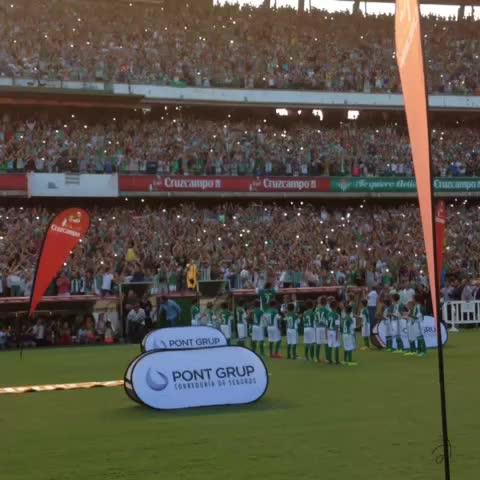 Vine by Real Betis - Recibimiento a Joaquín en el Estadio #JoaquínVuelveACasa cc @pontgrup