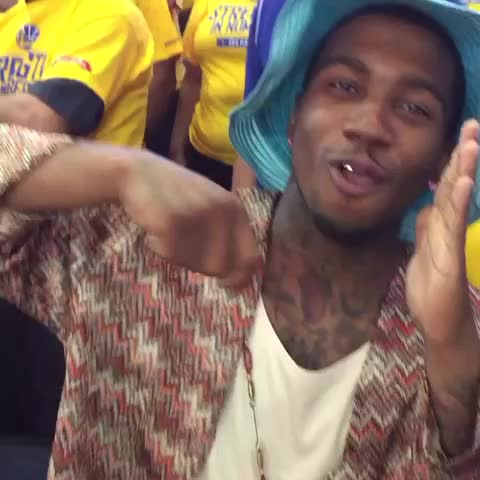 Vine by The NBA on ESPN - .LILBTHEBASEDGOD reminds the crowd who owns the cooking dance.