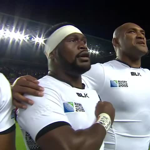 Vine by WORLD RUGBY - SMILE FOR THE CAMERA: Nemani Nadolo gives the camera a cheeky wink ahead of #FJIvURU #RWC2015
