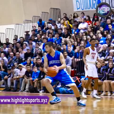 Vine by Highlight Sports - HSP Highlight of the Night - Burbank's Ellie Hanno NAILS the 3 w/ 2.9 left in the 1st!#differencemaker