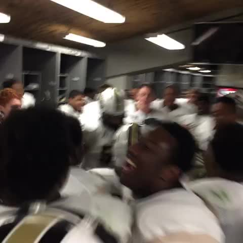 UCF Knightss post on Vine - Locker-room scene is HYPE! #UCFvsUSF #TakeoverTampa #ChargeOn - UCF Knightss post on Vine