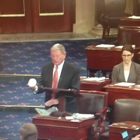 Vine by John R Parkinson - Sen. Inhofes snowball fight on the Senate floor...