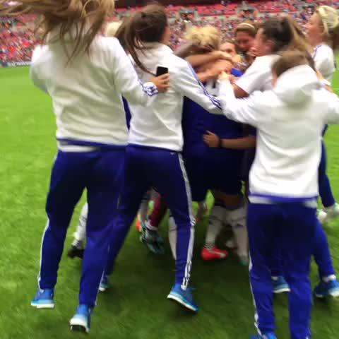 Vine by Chelsea Ladies FC - Champions! #WomensFACupFinal