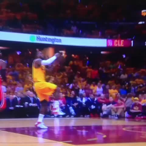 Vine by RealGM - LeBron elevates for the breakaway dunk.
