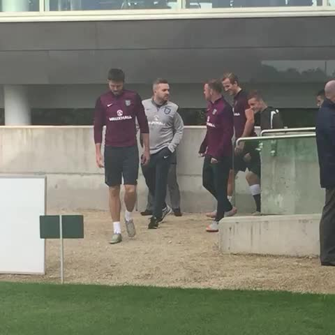 Carrick and Rooney the first ones out for England training - Vine by Paul Hirst - Carrick and Rooney the first ones out for England training