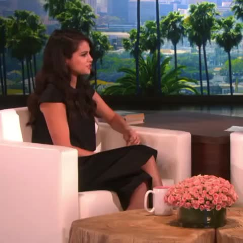 Vine by Ellen DeGeneres - I may have scared Selena Gomez while she was here. Just a little. Twice.