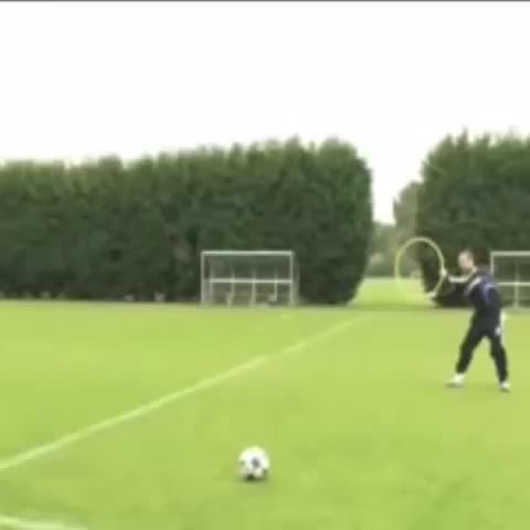 Vine by Chelsea FC - Michael Ballack target practice at Cobham, 2008!  #CFC #Chelsea #football #soccer