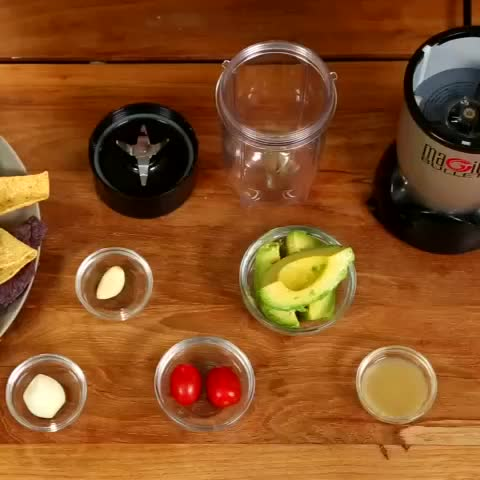 Prepared ingredients to make guacamole