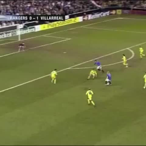 Vine by Glagow Rangers Vines - Peter Lovenkrands superb goal vs Villareal in the Champions League 2006