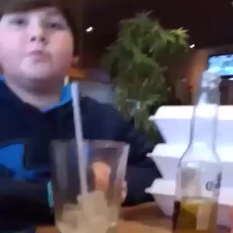 Vine Kid Drinks Beer With Out Mom