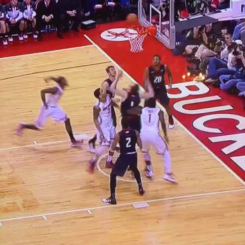 """Vine by Rob Dauster - This was called over the back. @jaybilas: """"Thats the worst call in the history of basketball"""""""