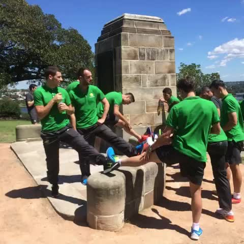 Vine by Socceroos - Team walk and stretch on #ACFinal day #GoSocceroos
