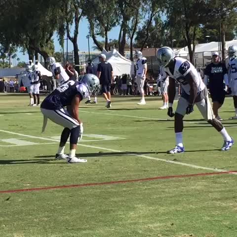 Vine by Mike Leslie - Dez Bryant against Tyler Patmon. No punches... Just a sick catch by 88. #CowboysCamp #WFAACowboys