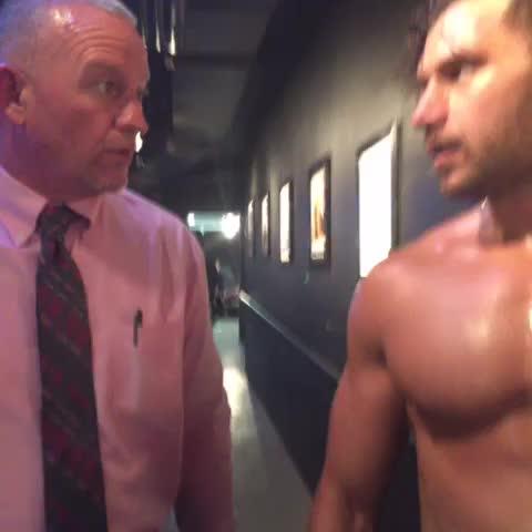 Vine by WWE - .@WWEFandango and @WWERoadDogg discuss @LanaWWE backstage at #RAW