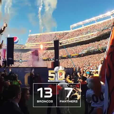 Vine by Denver Broncos - Halftime. #SB50
