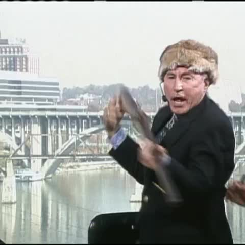 Lee Corso goes frontiersman in todays Daily Corso. #TBT - Vine by College GameDay - Lee Corso goes frontiersman in todays Daily Corso. #TBT