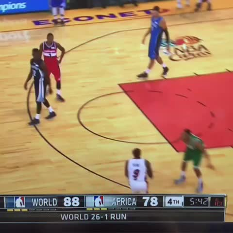 Vine by mfr234 - .@luoldeng9 feeling it from 3 @miamiheat ???????????? #NBAAfricaGame