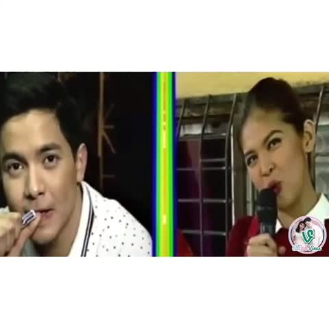 """Vine by ALDUB Vines HD - ALDUB DAY 173 (ZOOM IN). """"Mukha kang tatay ng magiging anak ko."""" From bff to better half to tatay ng anak REAL QUICK! #ALDUBTuLoyPaRin"""
