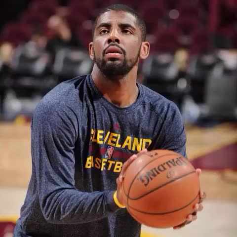 """Vine by NBA - Kyrie drops a #doublenickel at """"The Q"""" for the @cavs, through the lens of NBA Photos!"""