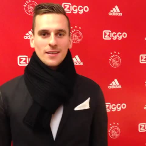 Vine by AFC Ajax - Happy to be Ajacied! @ArekMilik9 #Milik