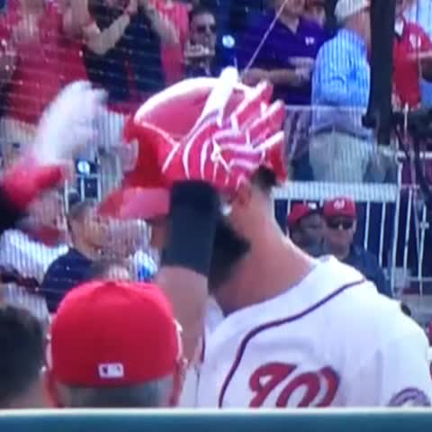 Bryce Harper Goes Yard Flips Hair