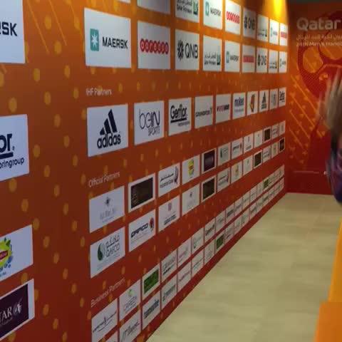 Vine by 2015handball - Joy of glory! #Qatar to the final فرحة الانتصار ! قطر تتأهل بجدارة إلى النهائي #العنابي_انت_قدها #LiveitWinit