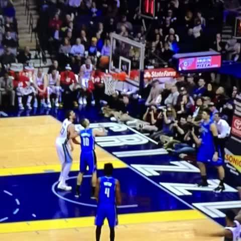 Vine by AminESPN - LOL! Marc Gasol trying to head the ball into the basket, soccer style